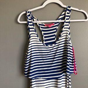 Betsey Johnson Dresses - Betsy Johnson • Blue White Striped Maxi Dress